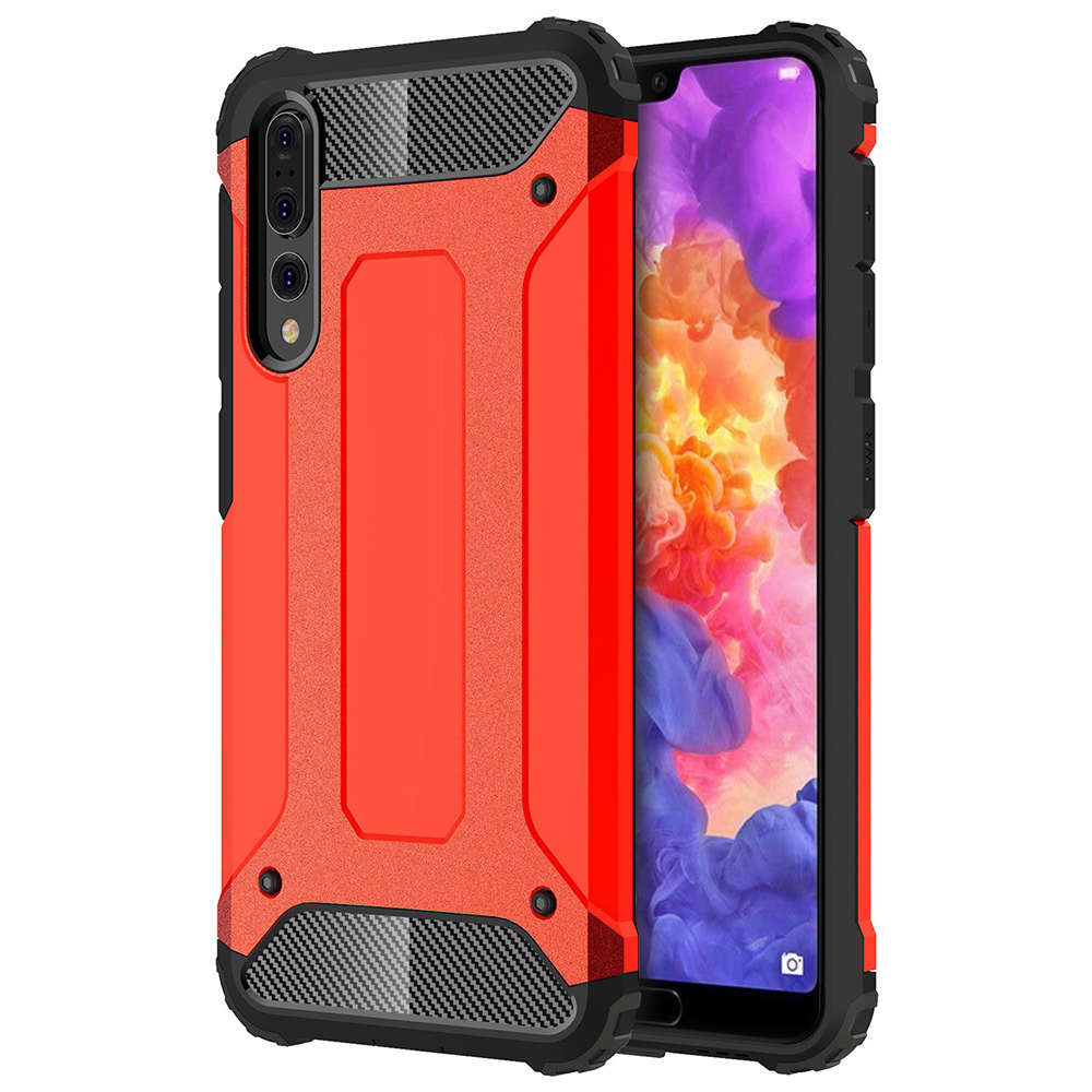new product fca82 bb4e3 Military Defender Shockproof Case - Huawei P20 Pro (Red)
